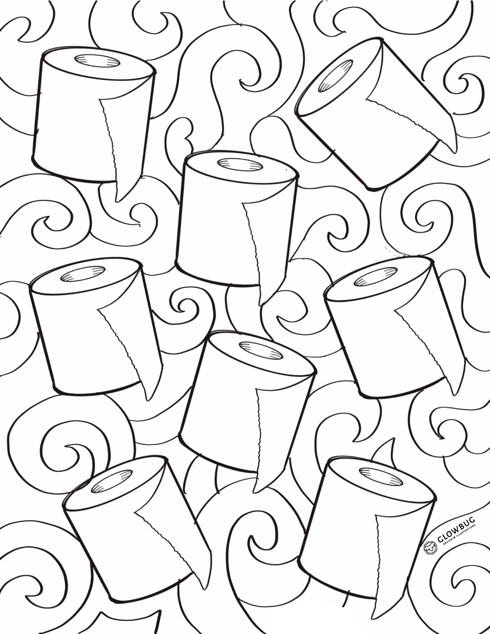 toilet paper colouring sheet