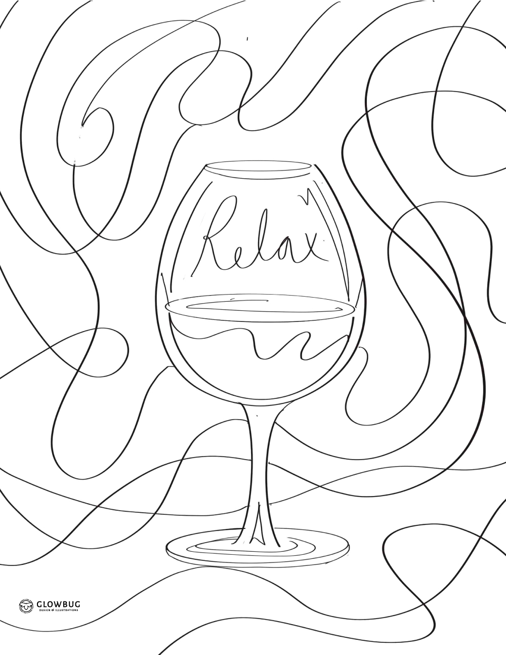 wine colouring sheet