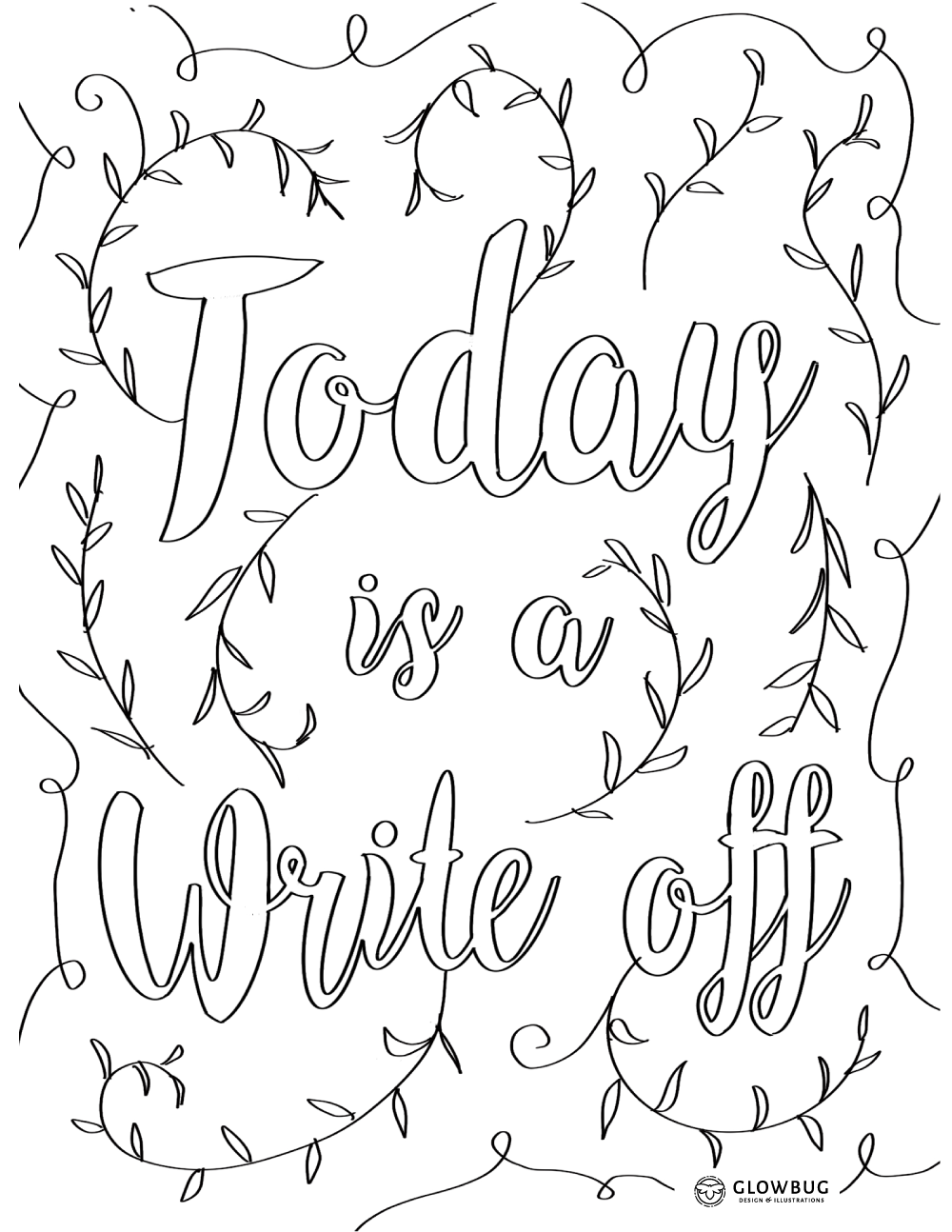 write off paper colouring sheet
