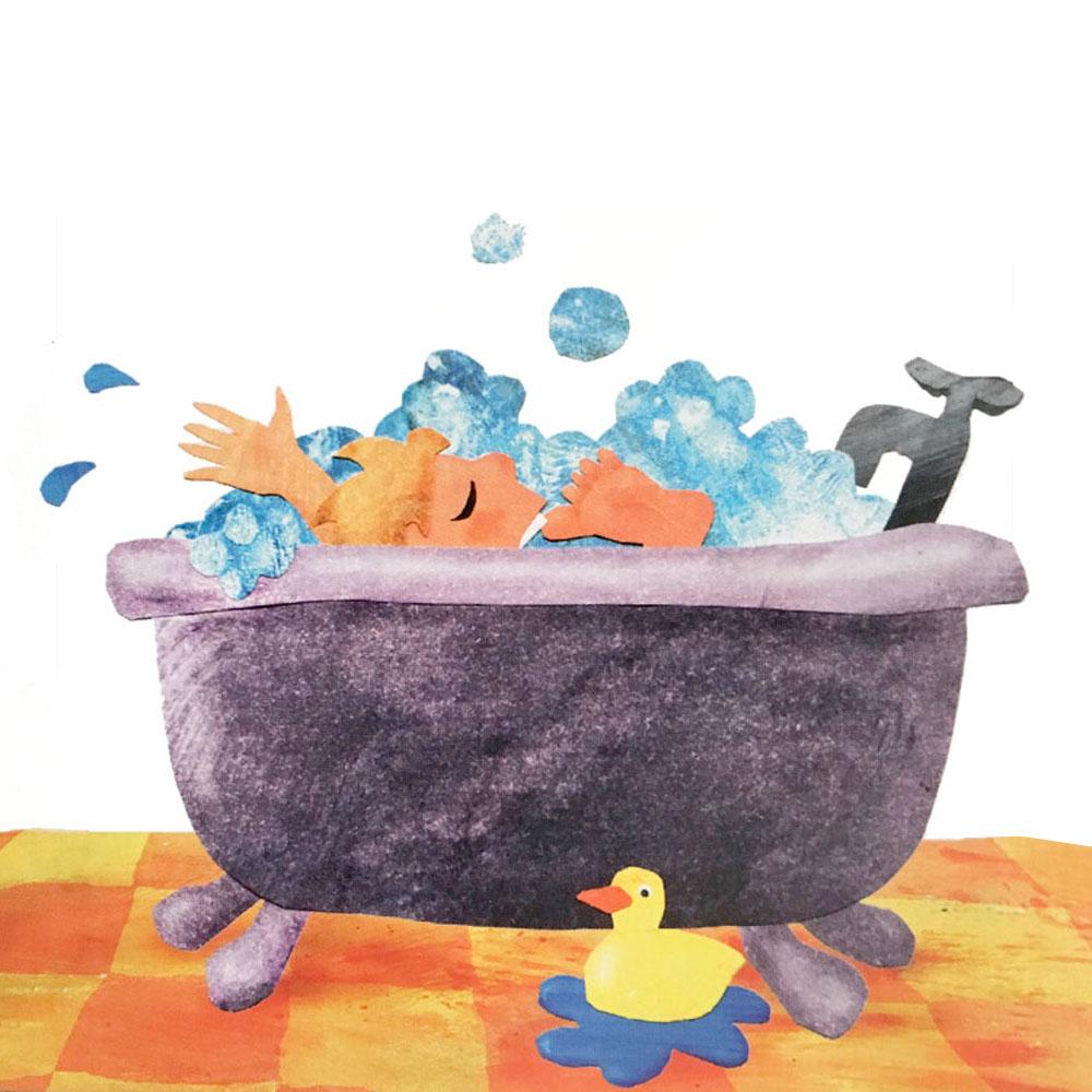 Bathtub childrens book illustration