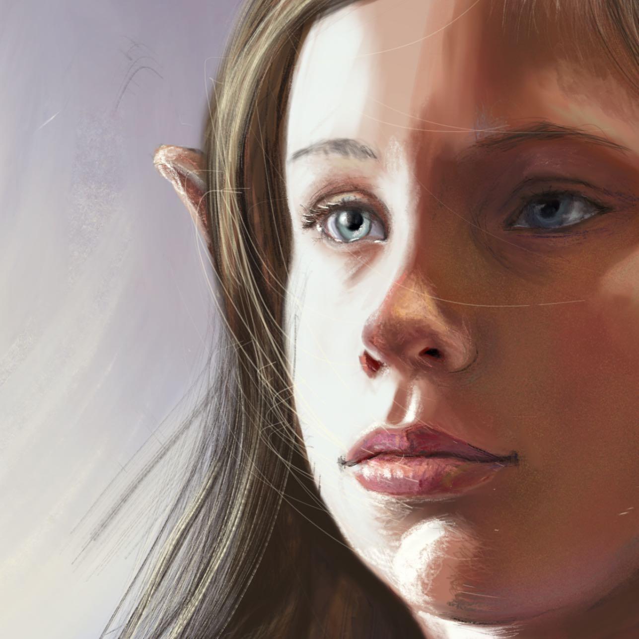 fantasy digital elf illustration