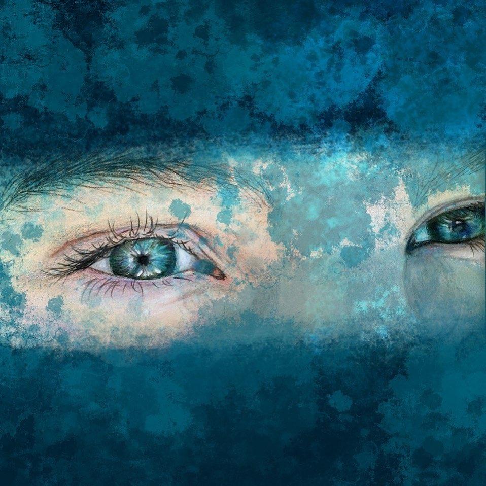 eyes digital iand drawn llustration