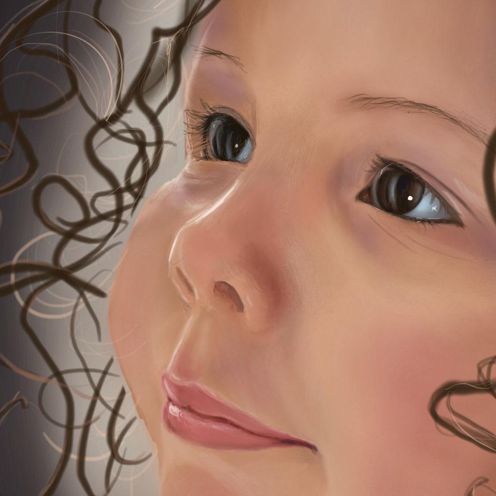 girl digital  illustration