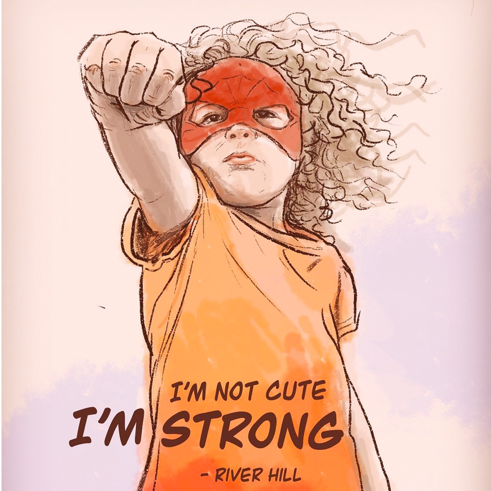 strong girl digital illustration