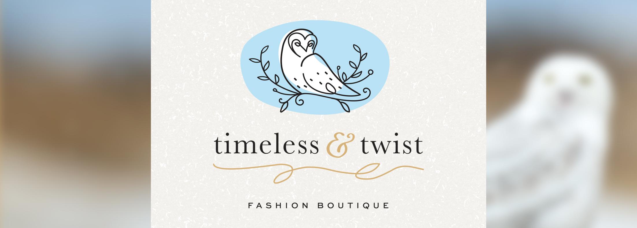 Timeless and Twist fashion branding